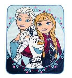 "Disney Frozen Anna Elsa Super Plush Throw 50"" x 60"" Kids Blanket"