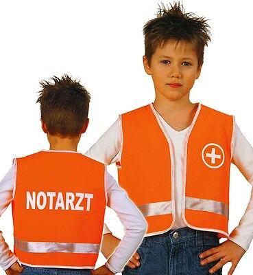 Spiel-Weste für Kinder Notarzt Gr 104 116 128 - Kinderspiel Kinder Kostüm