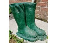Wellington boot garden planter