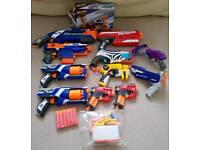 Nerf guns x 12 with bullets