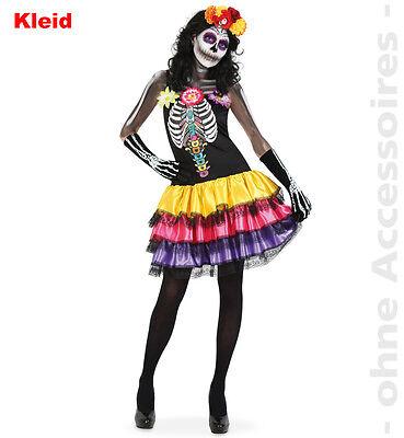 Kleid Catrina Gr. 34-40 Mexikanischer Totentag Kostüm Skelett 12234513