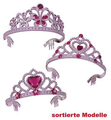 Diadem rosa Prinzessin Krone Fee Elfe Kostüm Zubehör Fasching Mädchen (Kostüm Krone Diadem)