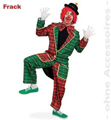 Clown Kostüm McCheck Frack M XL XXXL kariert Kostüm Karneval Fasching - Clown Frack Kostüm