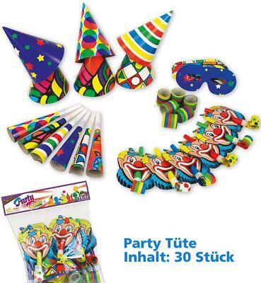 Partypaket Partydekoration Partyset Dekoration Clown Tröten - Clown Hüte
