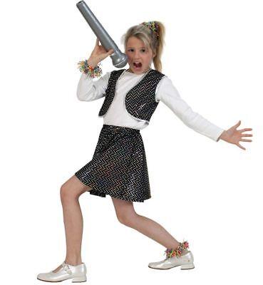 Kinderkostüm Roxy Schwarz, Outfit mit Glitzerpunkten, Star, Showgirl - Showgirl Kostüm Kinder