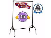 Clothes Rail Black 3ft Heavy Duty 4 Garment,Wardrobe,Shop Display & Home Storage Display 630/AAA