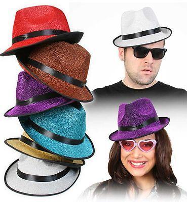 Glitterhut Glitter Trilby Hut Panama Gangster Disco Fashion 70er 80er 123839713 Fashion Trilby Hut