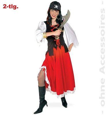 Piratenlady Kostüm 36-48 Piratenkleid Piratinkostüm Karneval Fasching - Piraten Lady Kostüme