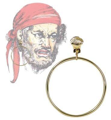 Piratenohrring Schmuck gold Muschel Ohrring Pirat Nixe Kostüm Zubehör - Kostüm Schmuck Gold Ringe