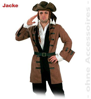 Fasching Karneval Kostüm Captain Henry Piraten Jacke lang mit Gürtel Gr. M - Captain Kostüm Kleid