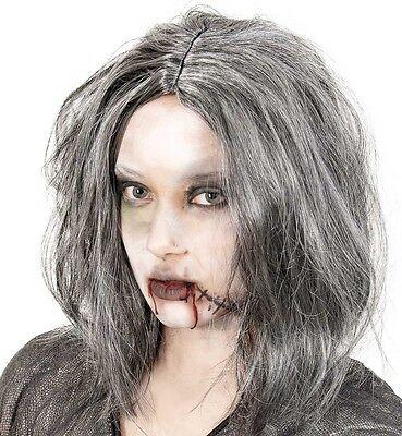 Perücke Zombie Zombieperücke grau Untoter Halloween Ghouls 123568813