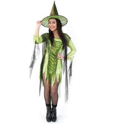 Grünes Gift Kostüm 34-46 Hexe Hexenkleid Halloween Walpurgisnacht 1210729G13
