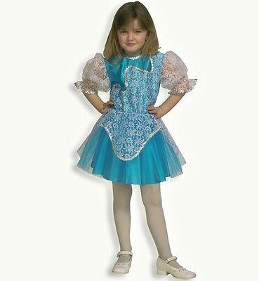 Ballerina Anna Kostüm Gr. 140 Eistänzerin Elfe Fee blau weiß Kleid 121103313 ()