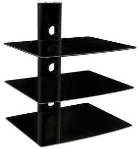 NEW Mount-It! Floating Wall Mounted Shelf Bracket Stand for AV Receiver, Component, Cable