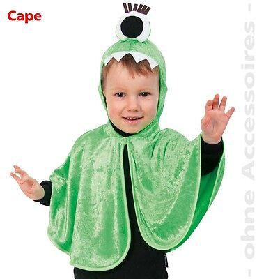 Monstercape grün 98 104 Zyklop Ugly doll Monster Kostüm Ox für Kinder 1210064G13