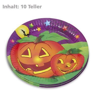 rbis Motiv Pappteller/ Einwegteller Tischdeko Deko 123453213F (Kürbis Pappteller)
