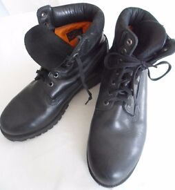 Timberland Boots Black Leather UK size 8