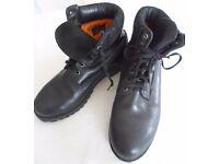 Timberland Boots Black Leather UK size 8