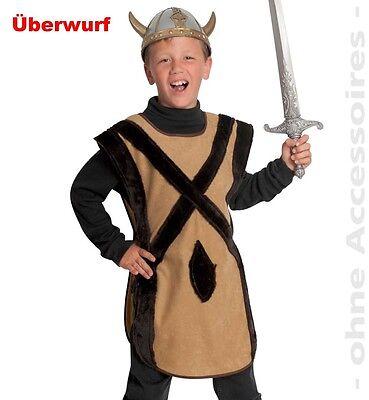 Nordmann Kostüm 104-164 Wikingerkostüm Wikinger Hunne 1-tlg. Fasching - Wikinger Mann Kostüme