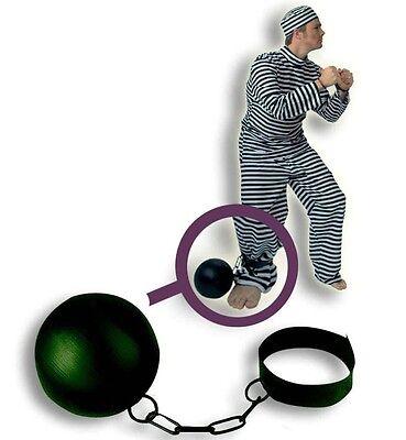 Gefangenenkugel mit Kette Sträfling Kostüm Zubehör JGA - Sträfling Kostüm Zubehör