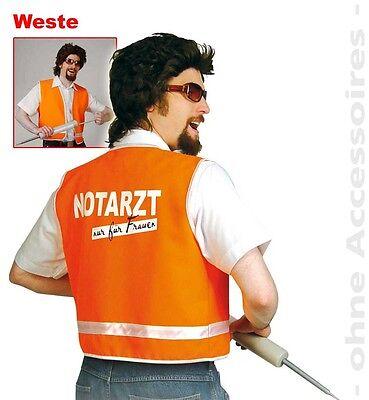 S2688 Fries Weste Notarzt Arzt Junggesellenabschied Gr. M - XXL  - Arzt Kostüm Männer