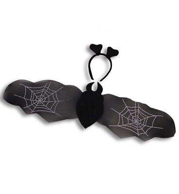 Fledermaus Kostüm Set Fledermausflügel Haarreif Bat Wing Flügel Gothic 129306113
