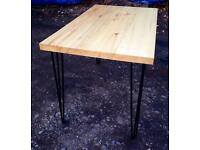 Brand New table with the black hairpin legs