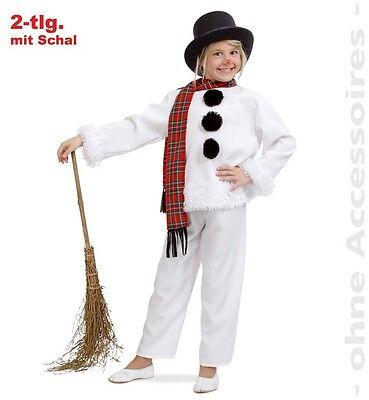 Schneemann Kostüm 116-140 Olaf Karneval Fasching - Weiss Schnee Kostüm