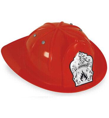 KarnevalsTeufel Feuerwehrhelm Rot Spielzeughelm Feuerwehrmann Kostüm - Feuerwehrmann Kostüm Accessoires