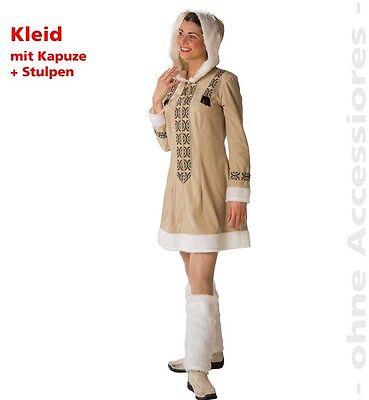 mofrau 2.Wahl Kostüm Inuit Kleid Fasching Halloween 12124113 (Eskimo Frau Halloween-kostüm)