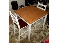 Table and 2 chairs (optional). £40 ono