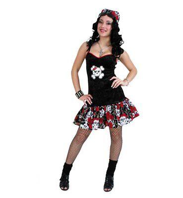 KarnevalsTeufel Kleid Black Rose Rockabilly Piratin Skulls Gothic Punk - Punk Skull Kostüm