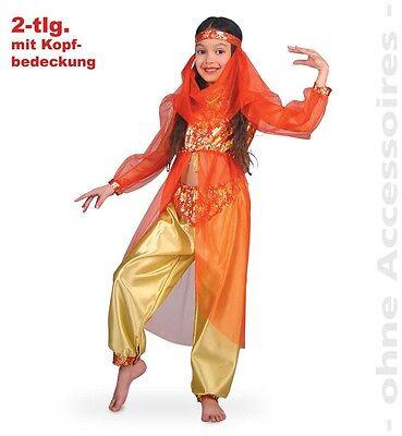 Bauchtänzerin rot/gold 128-164 Haremstänzerin Kostüm Suleika Fasching 1211279G13