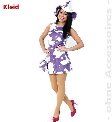 Kleid Leila Kuh Kostüm Größe 36-44 lila weiß - G Fest Kostüme