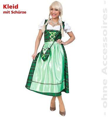 KarnevalsTeufel Dirndl Josefa grün Oktoberfest Kleid lang Damen - G Fest Kostüme