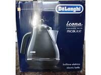 NEW De'Longhi Icona Electric Kettle, Black