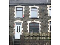 Cosy three bed terraced house available immediately in Maerdy. NO BOND OR DEPOSIT