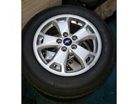 """Genuine Ford Transit Connect (09/13>) 16"""" X 6.5J Alloy Wheels and tyres x 4 brand new RRP £1150"""