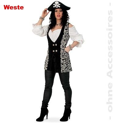KarnevalsTeufel Weste Skull Steampunk Gothic Barock Fasching Piratin - Punk Skull Kostüm