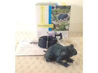 NEW & BOXED Bronze Frog Fountain spitter with pump for pond
