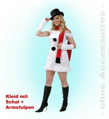 KarnevalsTeufel Schneefrau 2. Wahl Schneemann Kleid Fasching Karneval - Schnee Weisse Frau Kostüme