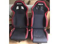 X2 Sparco R100 Reclining Bucket Seats And Mounts *Read Description*