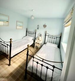 2 x single metal beds