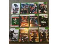 Xbox 360 games x12