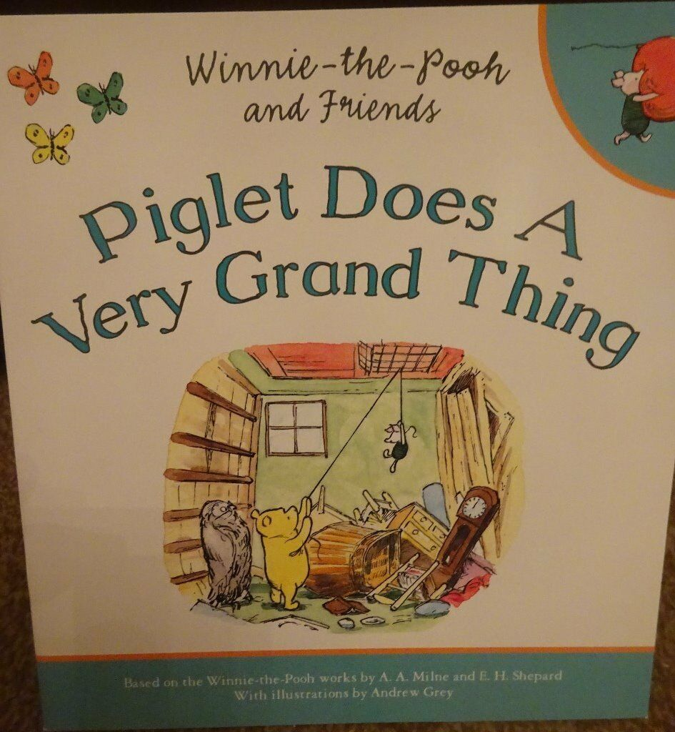 New Disney Winnie the pooh and friends Piglet Does A Very Grand Thing story book bedtime xmas gift