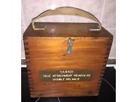1940 Boxed Transmitter Breast Ring Tele Attachment Headset No 1 Mk V WAAF/ RAF