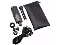 AUDIO TECHNICA AT2020+ USB VERSION WITH SHOCK MOUNT AND BOOM ARM (£100)