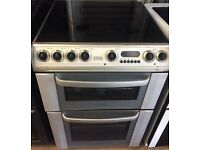 HOTPOINT 60cm WIDE ELECTRIC COOKER DOUBLE OVEN WITH GRILL FREE DELIVERY AND WARRANTY
