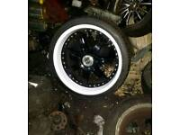 """Lenso 20"""" S73 staggered Bmw Audi Mercedes alloy wheels set with tyres -wide- deep dish"""