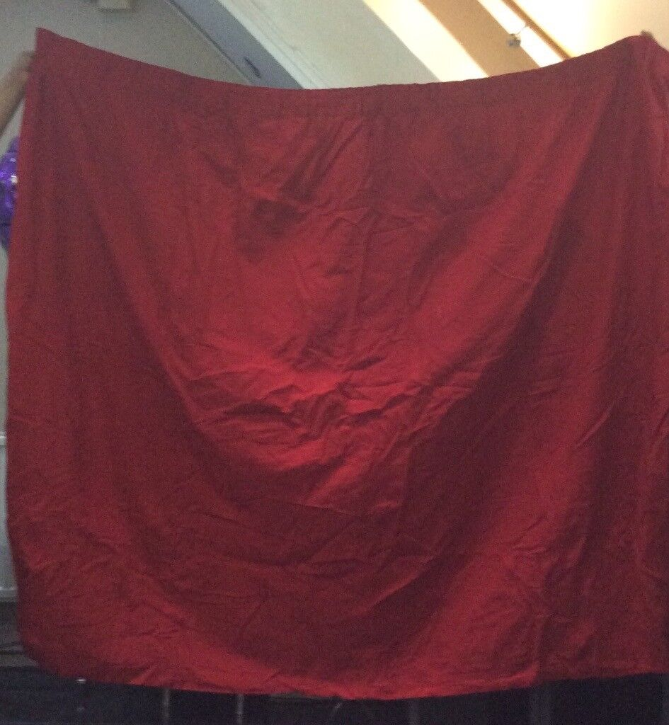 Curtains, a pair of red cotton with lining